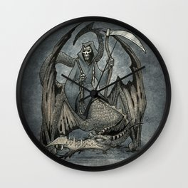 The Reaper's Ride Wall Clock