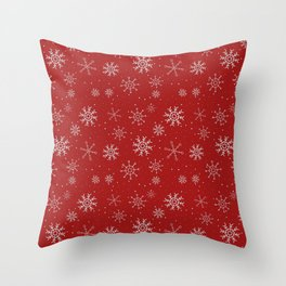 New Year Christmas winter holidays cute pattern Throw Pillow