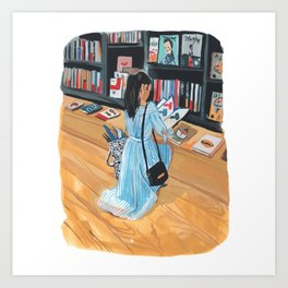 Kinokuniya Bookstore Art Print