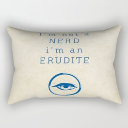 NERD? ERUDITE - DIVERGENT Rectangular Pillow