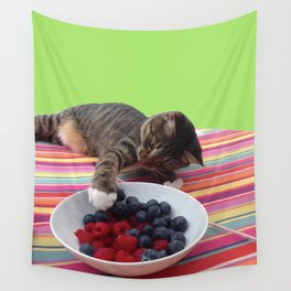 Grab the berries Wall Tapestry
