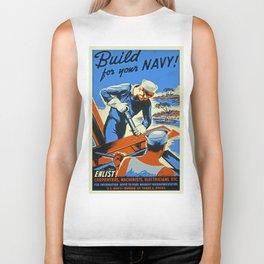 Vintage WW2 Navy poster Biker Tank