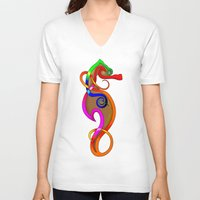 psychadelic V-neck T-shirts featuring Psychadelic Seahorse Knot by Knot Your World