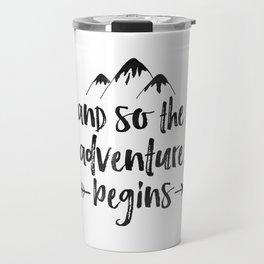 And So The Adventure Begins Sign,Adventure Awaits,Adventure Nursery,Kids Room Decor,Quote Posters,Pr Travel Mug