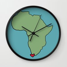 Ali Hearts Cape Town Wall Clock