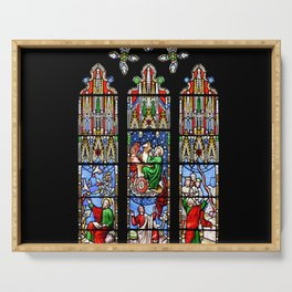 Cathedral Stained Glass 2 Serving Tray