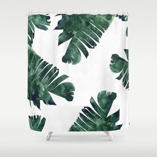 banana leaf watercolor #society6 #buy #decor shower curtain83
