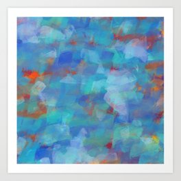 Paint Strokes Two Art Print
