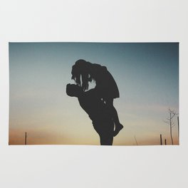 WOMAN - MAN - MOON - SUNSET - PHOTOGRAPHY Rug