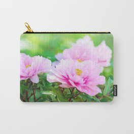 Pink  Peony Flower Carry-All Pouch