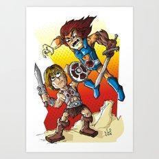 Duel! Art Print