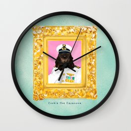 Spaniel the Casanova Wall Clock