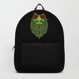 Stoned Hipster With Cannabis Bear - Marijuana THC Backpack