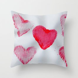 LOVE-ly Hearts Throw Pillow