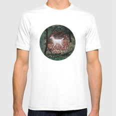 The white Deer Of Winter In Green Mens Fitted Tee MEDIUM White