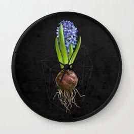 Blue Hyacinth Hydroponics (tryptic 1/3) Wall Clock