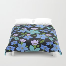 Forget -Me-Not flowers pattern Duvet Cover