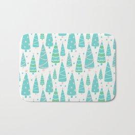Pastel Christmas Tree Forest Bath Mat