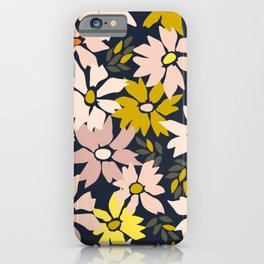 Garden time – bold floral pattern iPhone Case