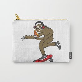 Skater Sloth Pizza Carry-All Pouch