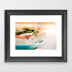 Lunch Framed Art Print