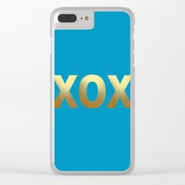Cerulean Blue Clear iPhone Case