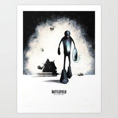Battlefield - Megaman 2 Art Print