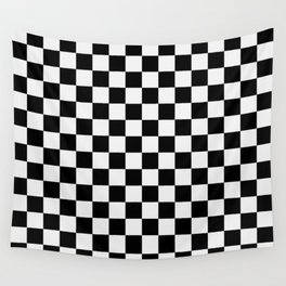 Checkered (white + black) Wall Tapestry