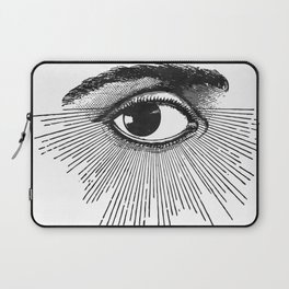 I See You. Black and White Laptop Sleeve