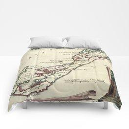 Vintage Map of Bermuda (1778) Comforters