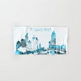 Montreal Canada Monochrome Blue Skyline Hand & Bath Towel