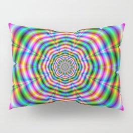 Octagonal Flower in Neon Colors Pillow Sham
