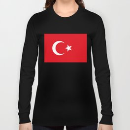 National flag of Turkey, Authentic color & scale Long Sleeve T-shirt