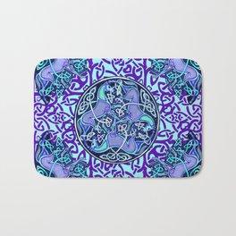 7 Blue Celtic Horses Bath Mat