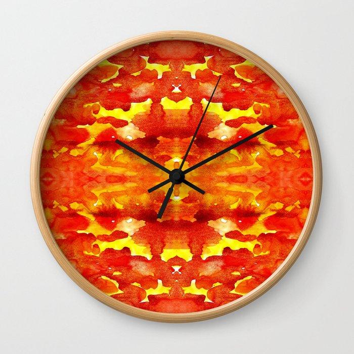 lava vulcan Wall Clock