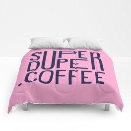 SUPERDUPER coffee mark Comforters