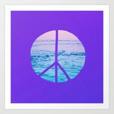 Waves & Peace x Violet Art Print