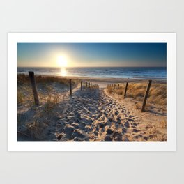Way to the sea beach Art Print