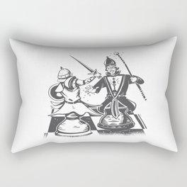 CHESS PIECES FIGHT Rectangular Pillow
