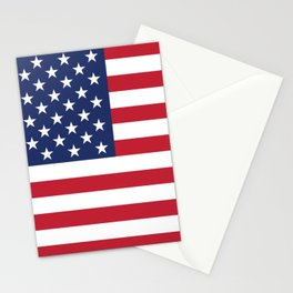 USA flag America flag Stationery Cards