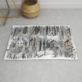 Winter Retreat - Mountain Resort Rug