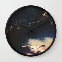 Swimming hole. Wall Clock