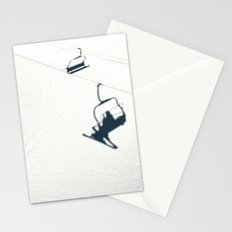 Chair lift shadow Stationery Cards