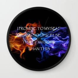 Promise to Myself Wall Clock