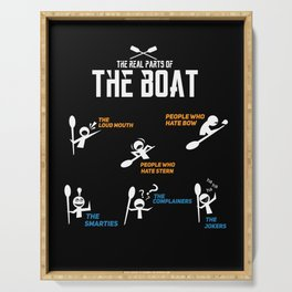 Funny rowing and boating T-shirt Serving Tray