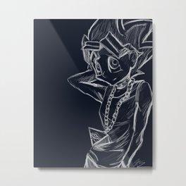 Yugi Mutou Sketch Metal Print