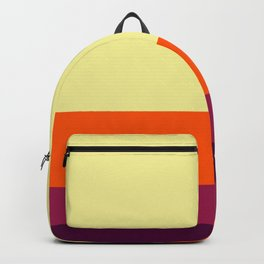 Tequila Sunrise Retro Stripe Backpack