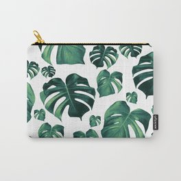 Tropical Monstera Pattern #3 #tropical #decor #art #society6 Carry-All Pouch
