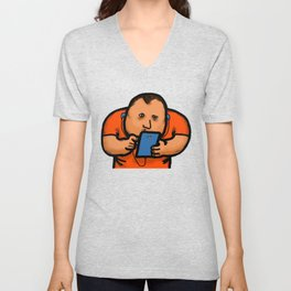 Cellphone Social Media Isolation Unisex V-Neck