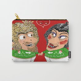 2 ugly Christmas sweaters...1 ugly couple...priceless! Carry-All Pouch